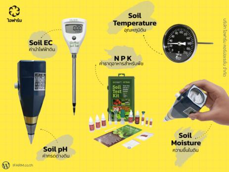 เครื่องวัดค่าดิน pH EC และ N P K